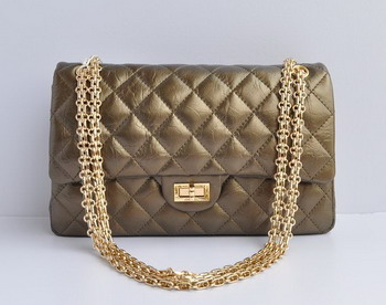Chanel 2.55 Flap Bag 30226 Bronze with gold chain