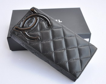 Chanel Leather Wallet Large Fold 164 Black