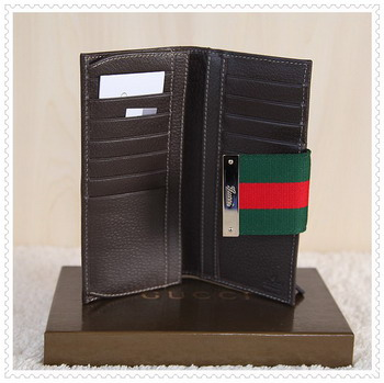 Gucci Leather wallet 49722 coffee