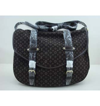 Louis Vuitton Monogram Mini Lin Saumur XL M95220