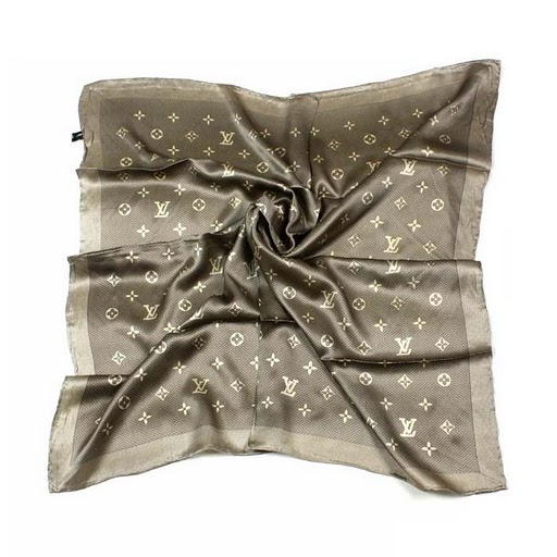 2011 Louis Vuitton Scarf bronzing silk apricot black