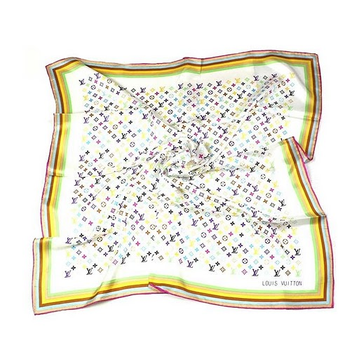 2011 Louis Vuitton Scarf silk white