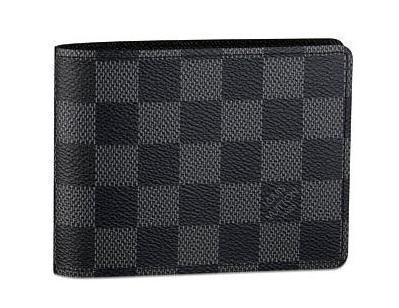 Louis Vuitton Damier Canvas Multiple Wallet N60895 Black