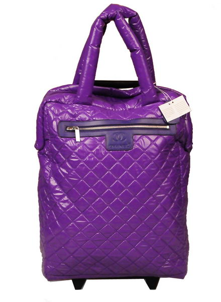Chanel CoCo Cocoon Quilted Nylon Trolley A47204 Hyacinthine