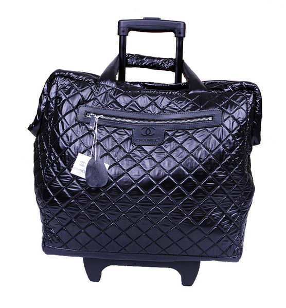 Chanel CoCo Cocoon Quilted Nylon Trolley A47205 Black