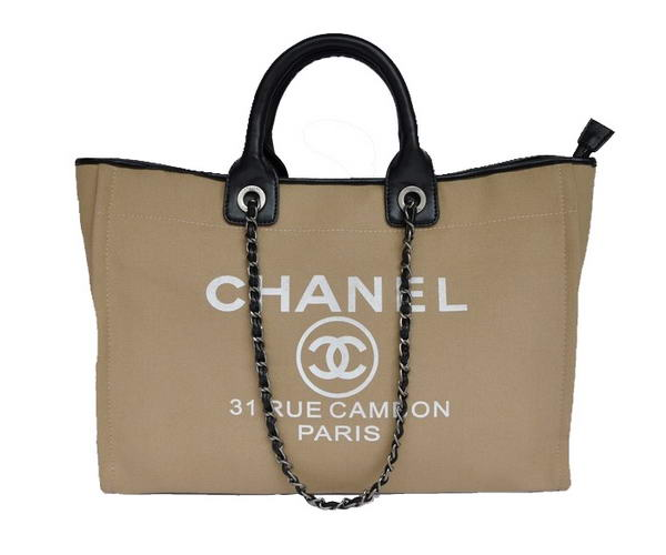 Chanel Large Canvas Tote Shopping Bag A66942 Y07492 C2176