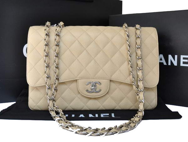 Chanel Original Caviar Leather Flap Bag A28600 Apricot