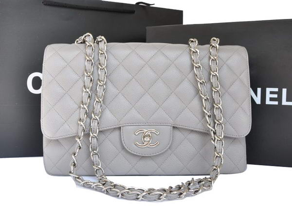 Chanel Original Caviar Leather Flap Bag A28600 Grey