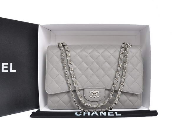 Chanel Original Caviar Leather Jumbo Flap Bag A47600 Grey