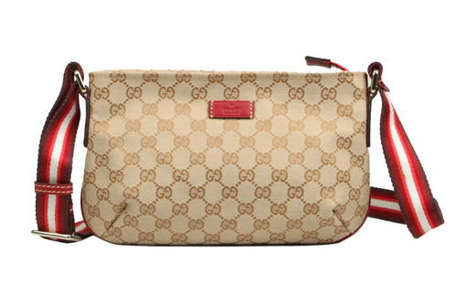 Gucci 189749 F4F5R Red Leather Small Messengeer Bag