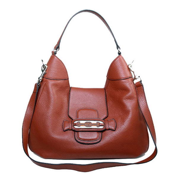 Fashion Gucci Dressage 296851 Brown Leather Hobo Bag