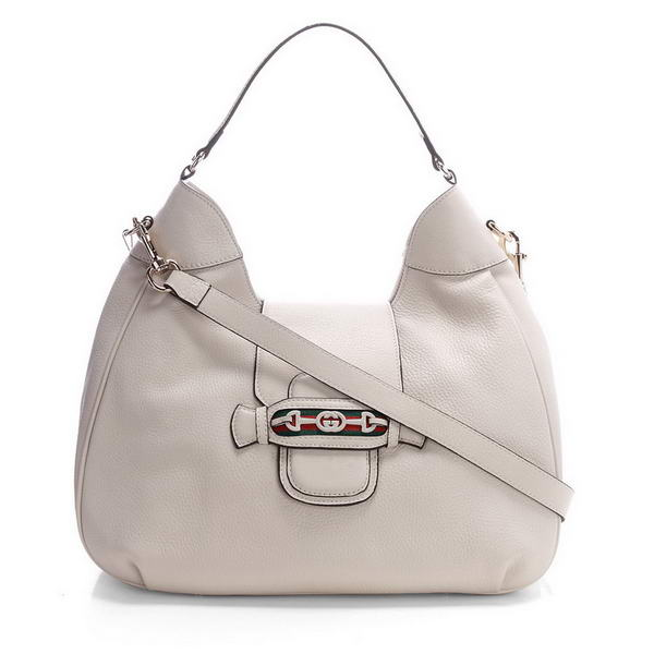 Gucci Dressage 296851 Off-white Leather Hobo Bag