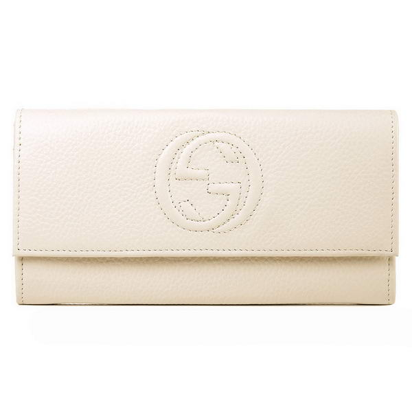 Top Quality Gucci Interlocking G Continental Wallet 282414 Offwhite