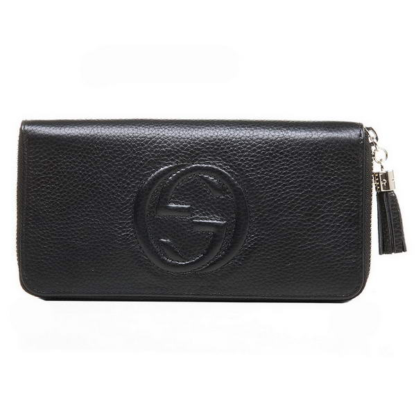 Top Quality Gucci Interlocking G Zip Around Wallet 282413 A7M0G 1000 Black