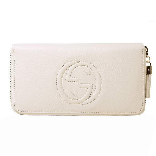 buy Cheap Gucci Interlocking G Zip Around Wallet 282413 A7M0G 9022 Offwhite