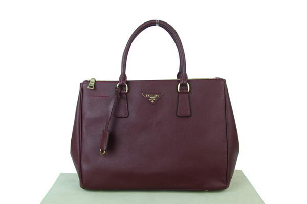 Prada BN1786 Saffiano Calf Leather Tote Bag Red