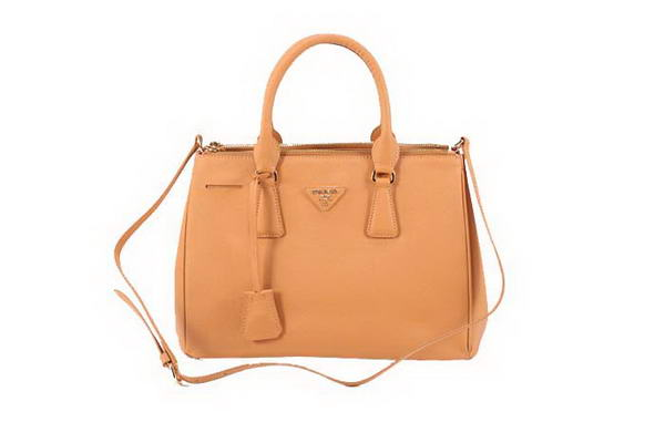 Prada BN1801 Saffiano Calf Leather Tote Bags Ocher