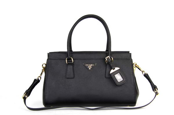 Prada BN1849 Small Saffiano Leather Tote Bag Black