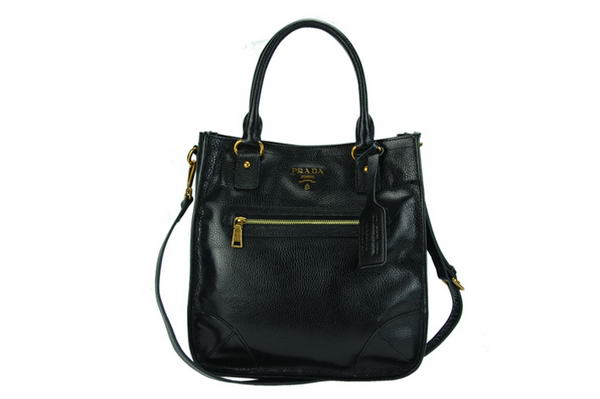 Prada Calf Leather Hobo Bag BR4739 Black