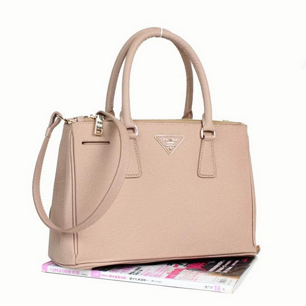 New Cheap Prada Classic Saffiano Leather Medium Tote Bag BN1801 Light Apricot