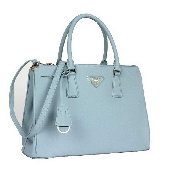 95fc30540cc9 Hot Sell Prada Classic Saffiano Leather Medium Tote Bag BN1801 Light Blue