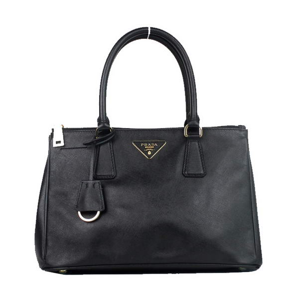 Prada Saffiano Calf Leather Totes BN1801 Black