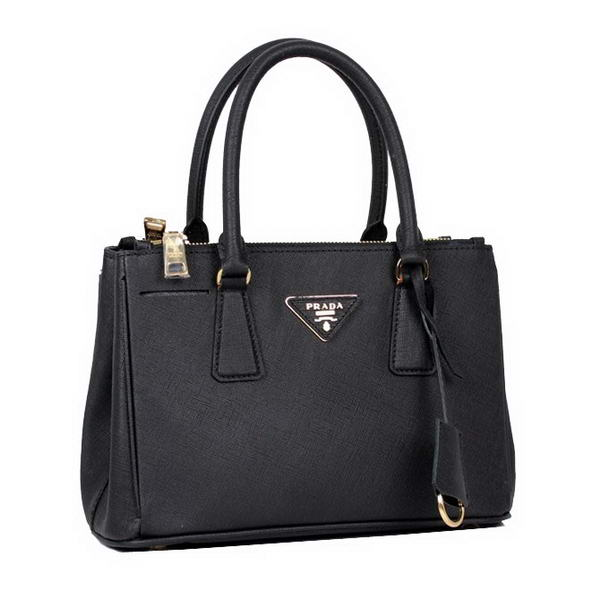 Hot Sell Prada Saffiano Calfskin Leather Tote Bag BN2316L Black