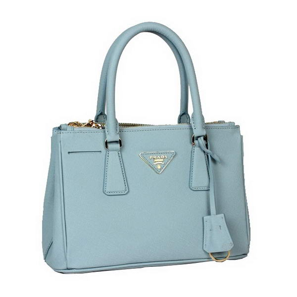 Newest 2012 Prada Saffiano Calfskin Leather Tote Bag BN2316L Light Blue