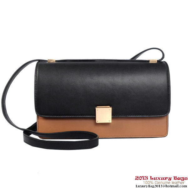 Celine Case Bag Calfskin Leather 17081 12072 Black&Brown
