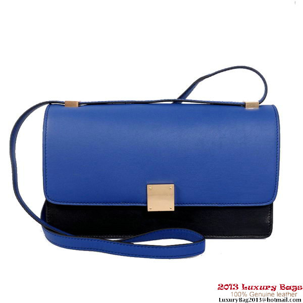 Celine Case Bag Calfskin Leather 17081 12072 Blue&Black