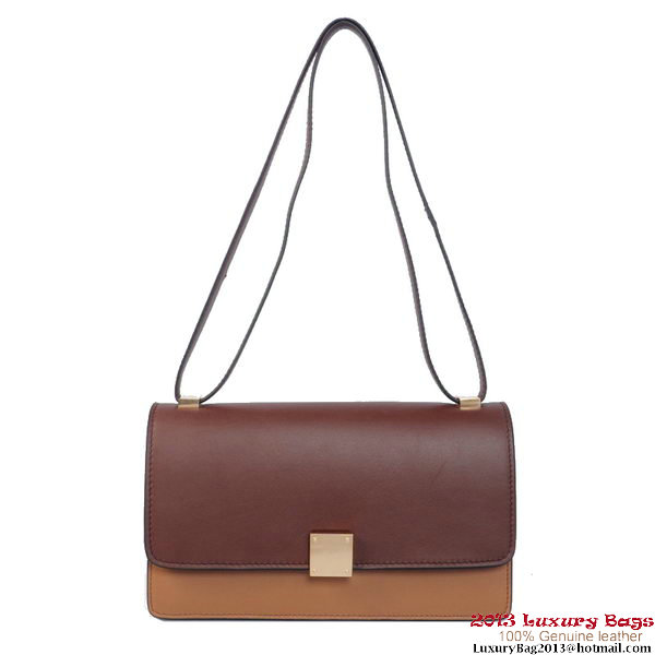 Celine Case Bag Calfskin Leather 17081 12072 Wine&Brown