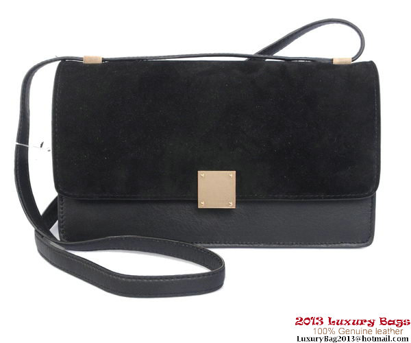 Celine Case Bag Nubuck Leather 17081 12072 Black