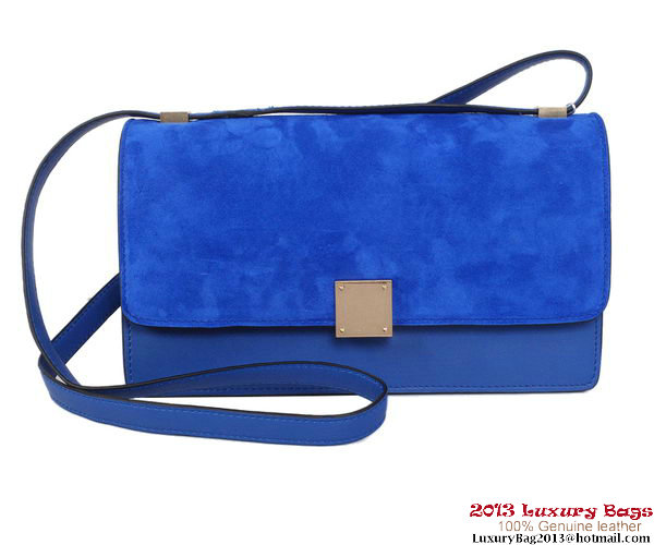 Celine Case Bag Nubuck Leather 17081 12072 Blue