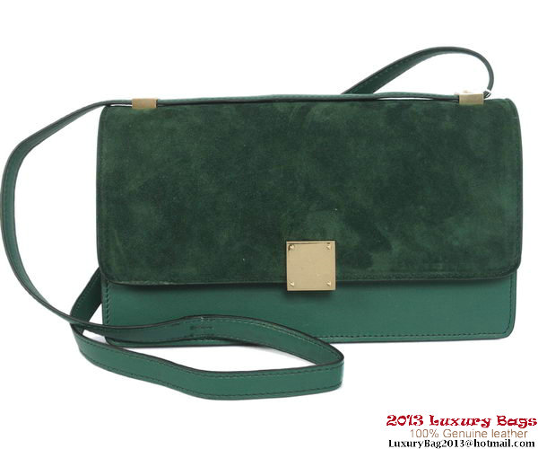 Celine Case Bag Nubuck Leather 17081 12072 Green