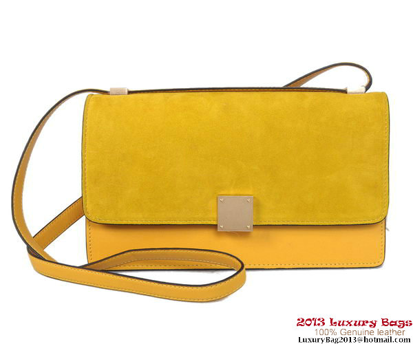 Celine Case Bag Nubuck Leather 17081 12072 Yellow