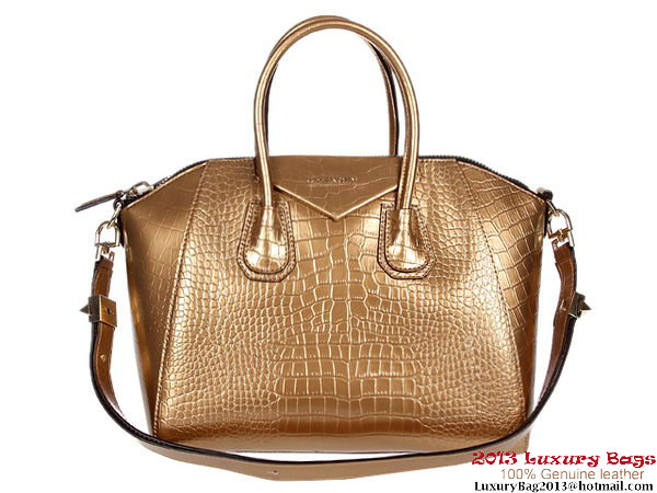 Givenchy Antigona Bag Crocodile Leather G9981 Gold