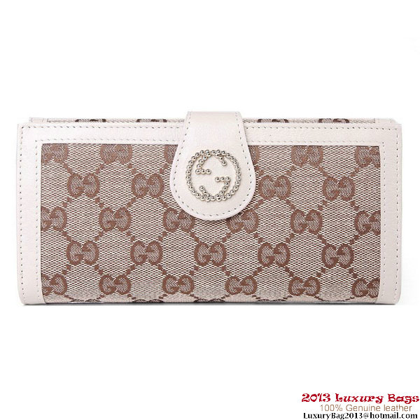Gucci GG Fabric Continental Wallet 269970 Offwhite