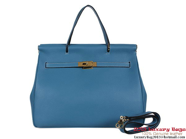 Hermes Spring Summer 2013 Shopping Bag H115123 Blue