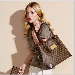 Louis Vuitton Damier Ebene Canvas Hampstead MM N51204