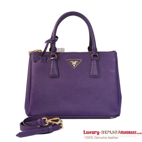 New Prada Saffiano Tote Bag BN1801 Purple