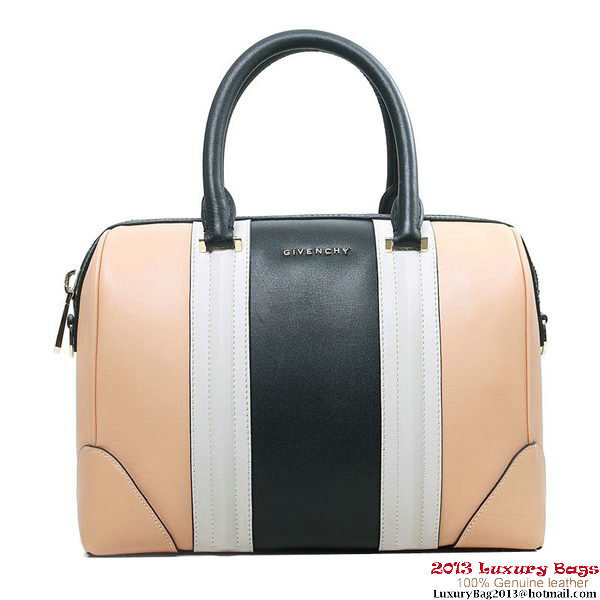 2013 Givenchy Lucrezia Bag Calfskin Leather G5470 Apricot&Black&White