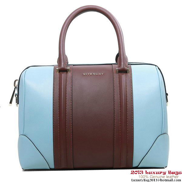 2013 Givenchy Lucrezia Bag Calfskin Leather G5470 Light Blue&Brown