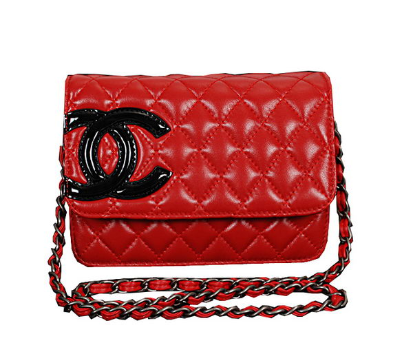 2014 Spring Summer Chanel Cambon Flap Shoulder Bag A46646 Red