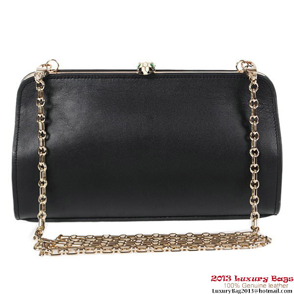 BVLGARI New Serpenti Famed Clutch 3021 Black