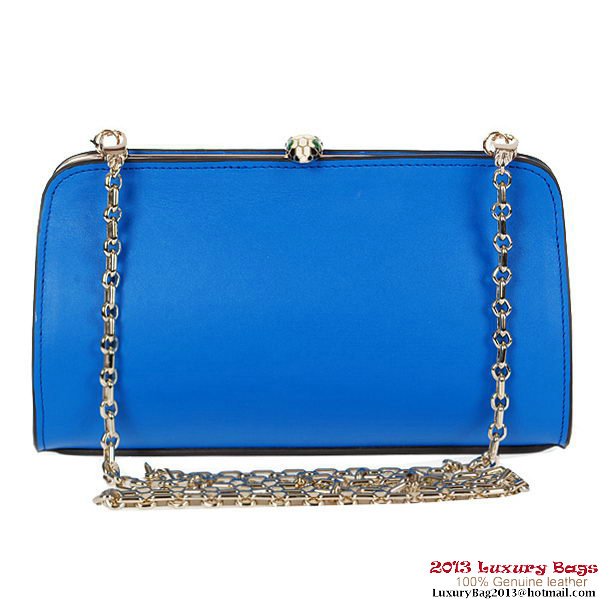 BVLGARI New Serpenti Famed Clutch 3021 Light Blue