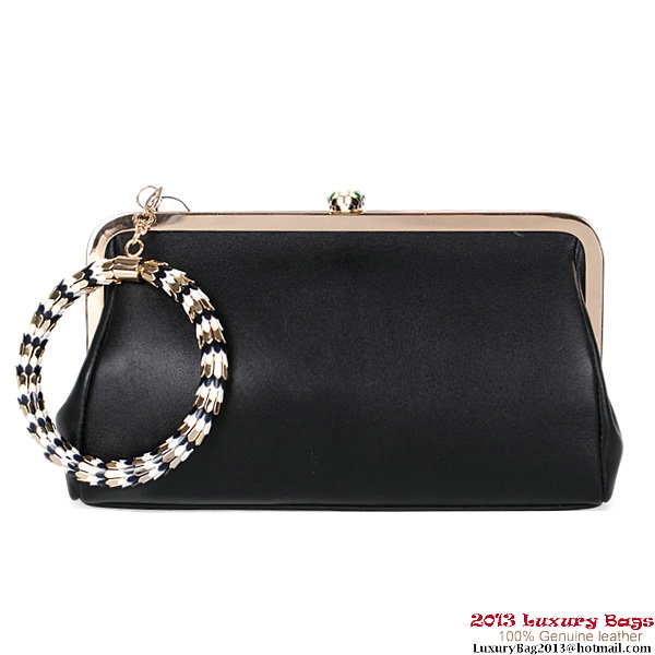 BVLGARI New Serpenti Famed Pochette 3020 Black