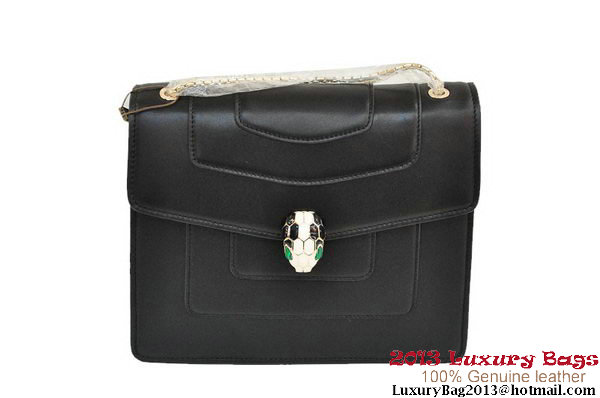 BVLGARI Shoulder Bag Nappa Leather B35292 Black