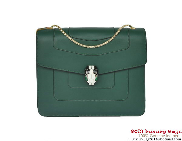 Bulgari Shoulder Bag Nappa Leather B34563 Green