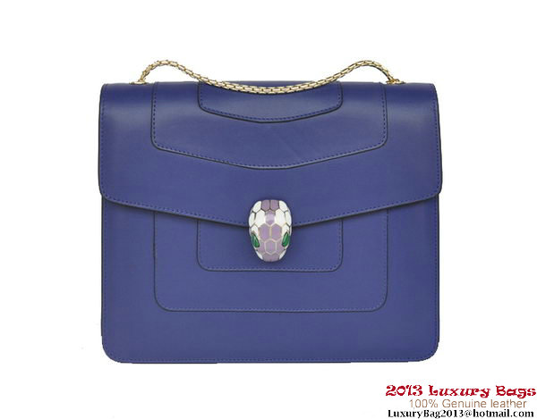 Bulgari Shoulder Bag Nappa Leather B34563 Purple