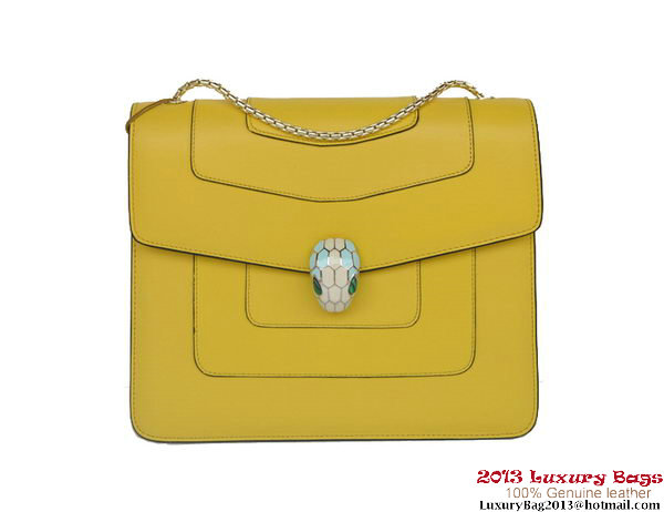 Bulgari Shoulder Bag Nappa Leather B34563 Yellow